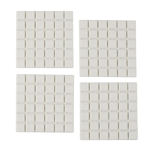 Alfombra interior baño/ducha mod. Quadro 54x54 cm. blanca
