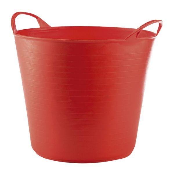 Capazo 42 litros, rojo