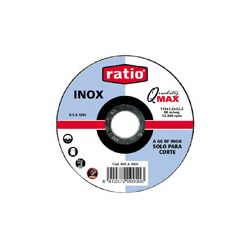 Disco plano corte Inox./metal. 125x1,0 mm. Quality Max.