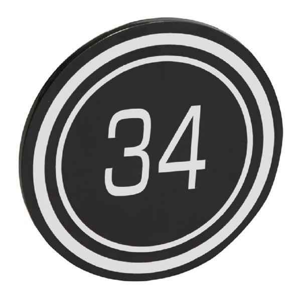 Placa + numeración vivienda aluminio. Mod. Luxe. Negro.