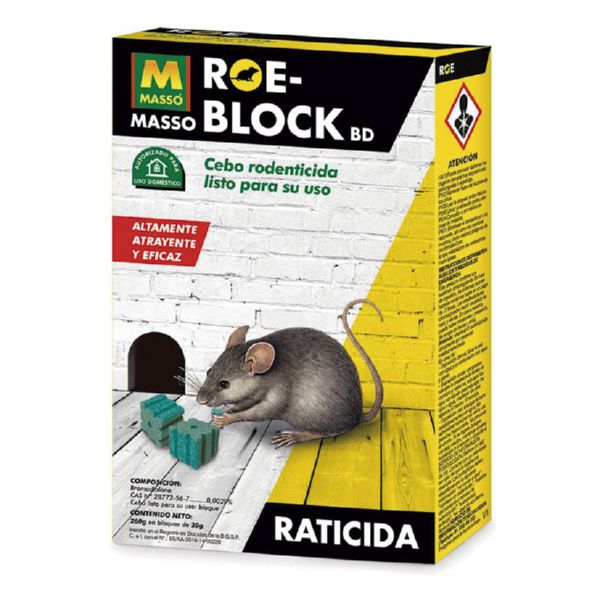 Raticida Roe-block 260 gr.